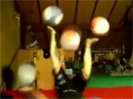 Girl Juggling With Basketballs video