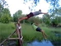 Bad Timing Rope Swing Fail video