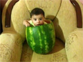 Baby in a Watermelon video
