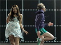 Adidas Delivers Panty Shot in Mini Skirt Showdown video