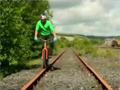 Cool Bike Tricks At Abandoned Railroad video