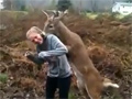 Young buck attempts to mate with blonde teen video